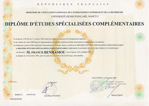 diplome etudes specialisees complementaires